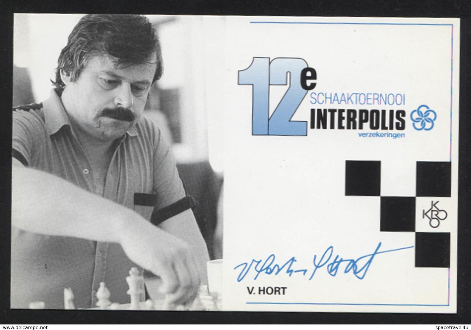 Vlastimil Hort - Czechoslovak-born German Chess Grandmaster -  Postcard - (CHESS-14) - Cartes Postales
