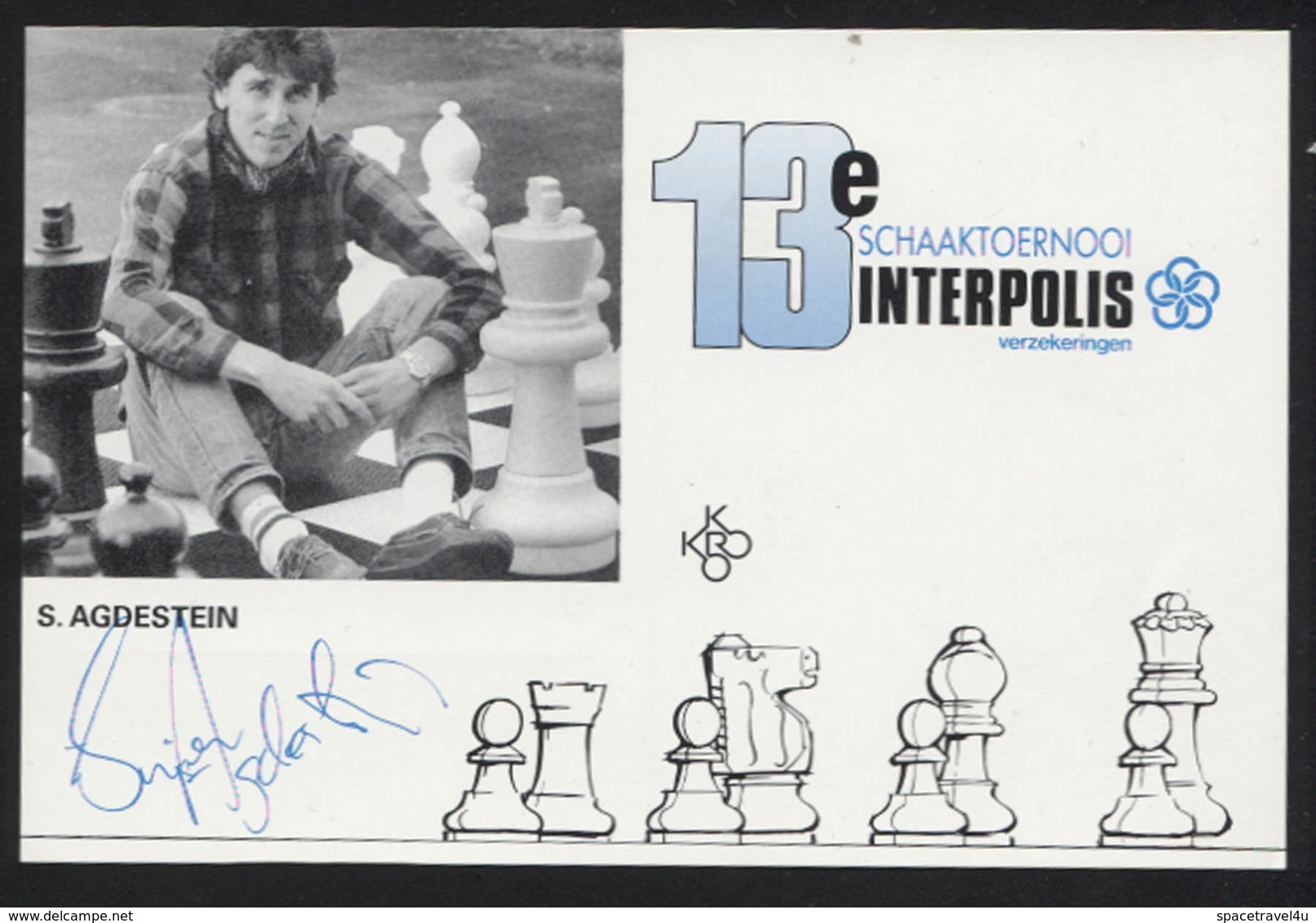 Simen Agdestein -  Norwegian Chess Grandmaster -  Postcard - (CHESS-21) - Cartes Postales