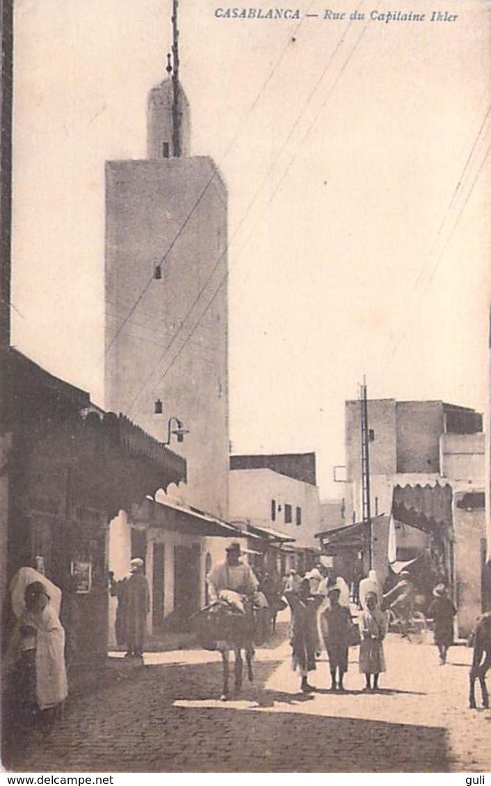 Afrique-Maroc- CASABLANCA  Rue Du Capitaine Ihler  (- Editions AVEDIS) *PRIX FIXE - Casablanca