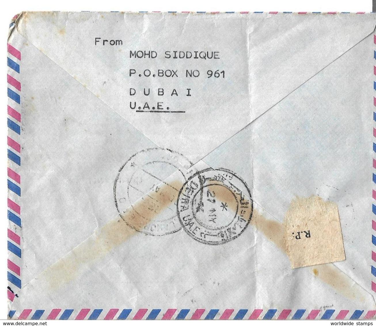 United Arab Emirates Registered Airmail Cover 1975 4th National Day, 1973 Khor Fakkan Sharjah To Pakistan. - Abu Dhabi