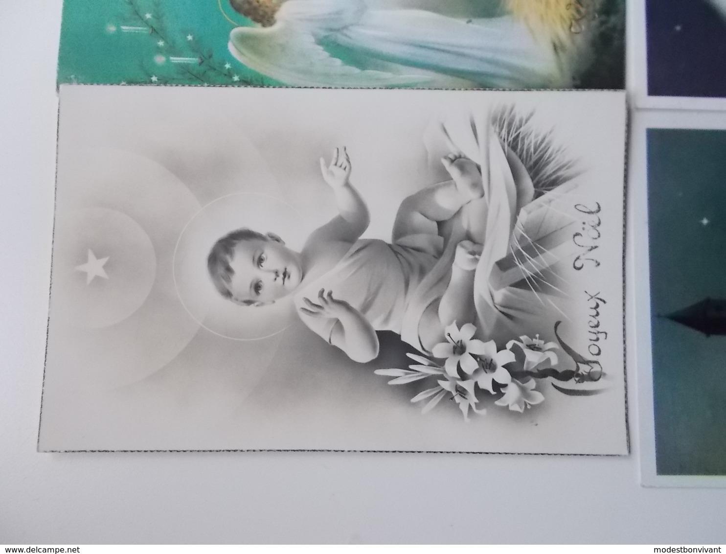 Lot 4 Vintage, Romantiek, Amitiès, Liefde, Amour, Begin 1900, Folklore, Wensen, Bloemen,  JOYEUX NOËL./ KERST.... # 13 - Fancy Cards