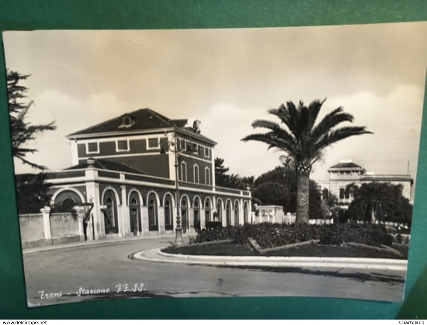 Cartolina Trani - Stazione FF.SS. - 1954 - Bari