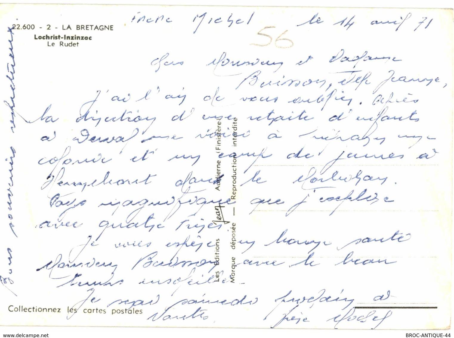 CPM* N°1707 - LOT DE 2 CARTES DE LOCHRIST-INZINZAC - MOULIN NEUF + LE RUDET - Sonstige Gemeinden