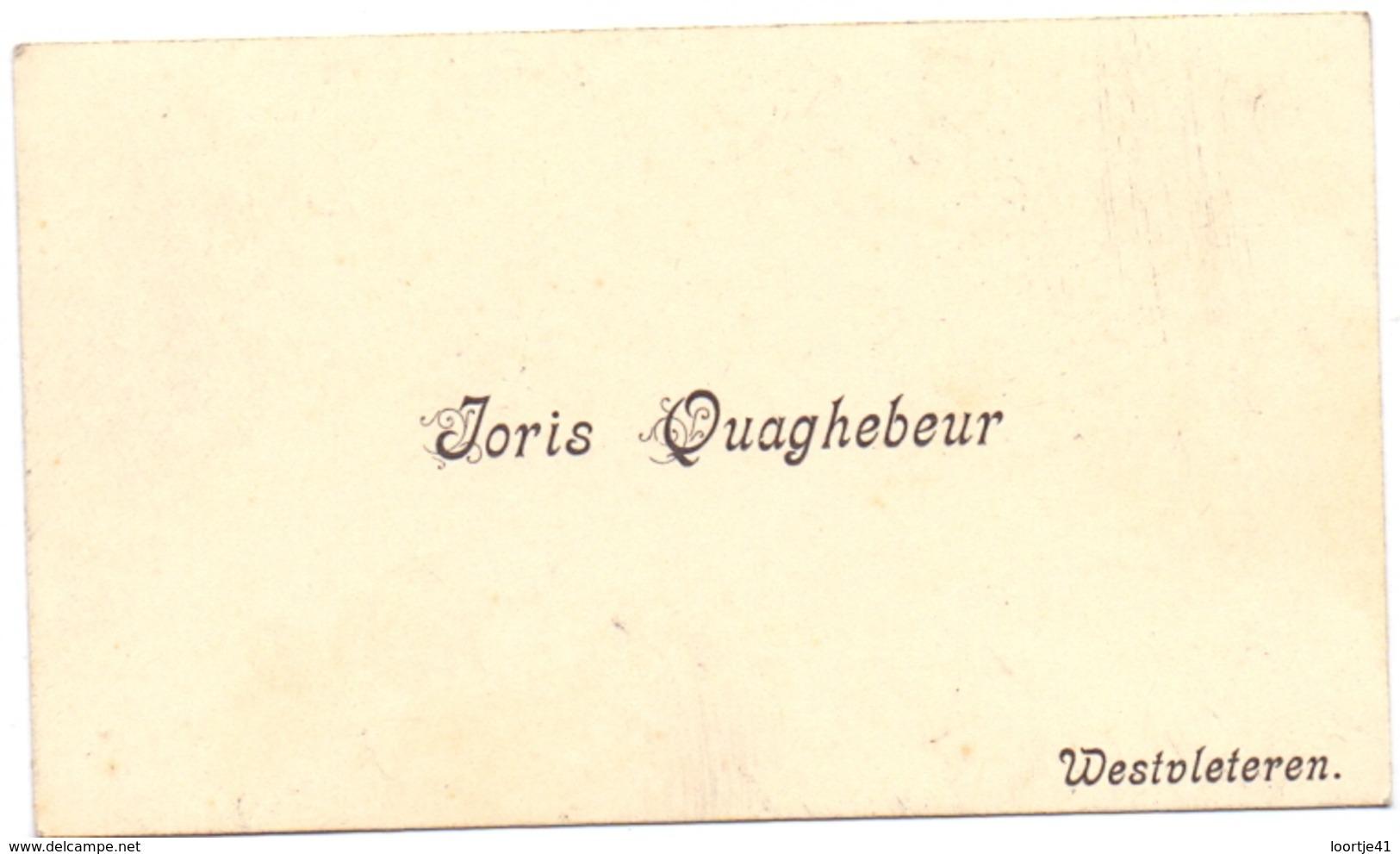 Visitekaartje - Carte Visite - Joris Quaghebeur - Westvleteren - Cartes De Visite