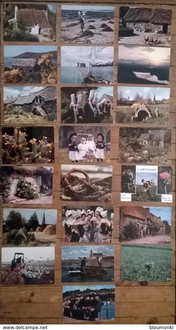 Lot De 40 Cartes Postales /  LA BRETAGNE EN COULEURS / IRIS JOS - Bretagne
