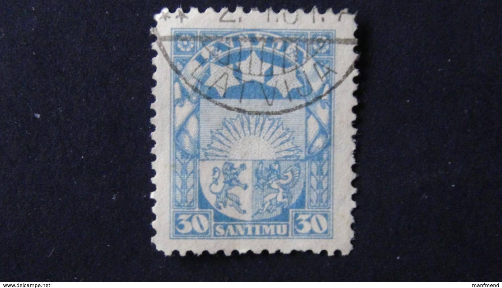 Latvia - 1927 - Mi:LV 122b, Sn:LV 148, Yt:LV 127 O - Look Scan - Lettland