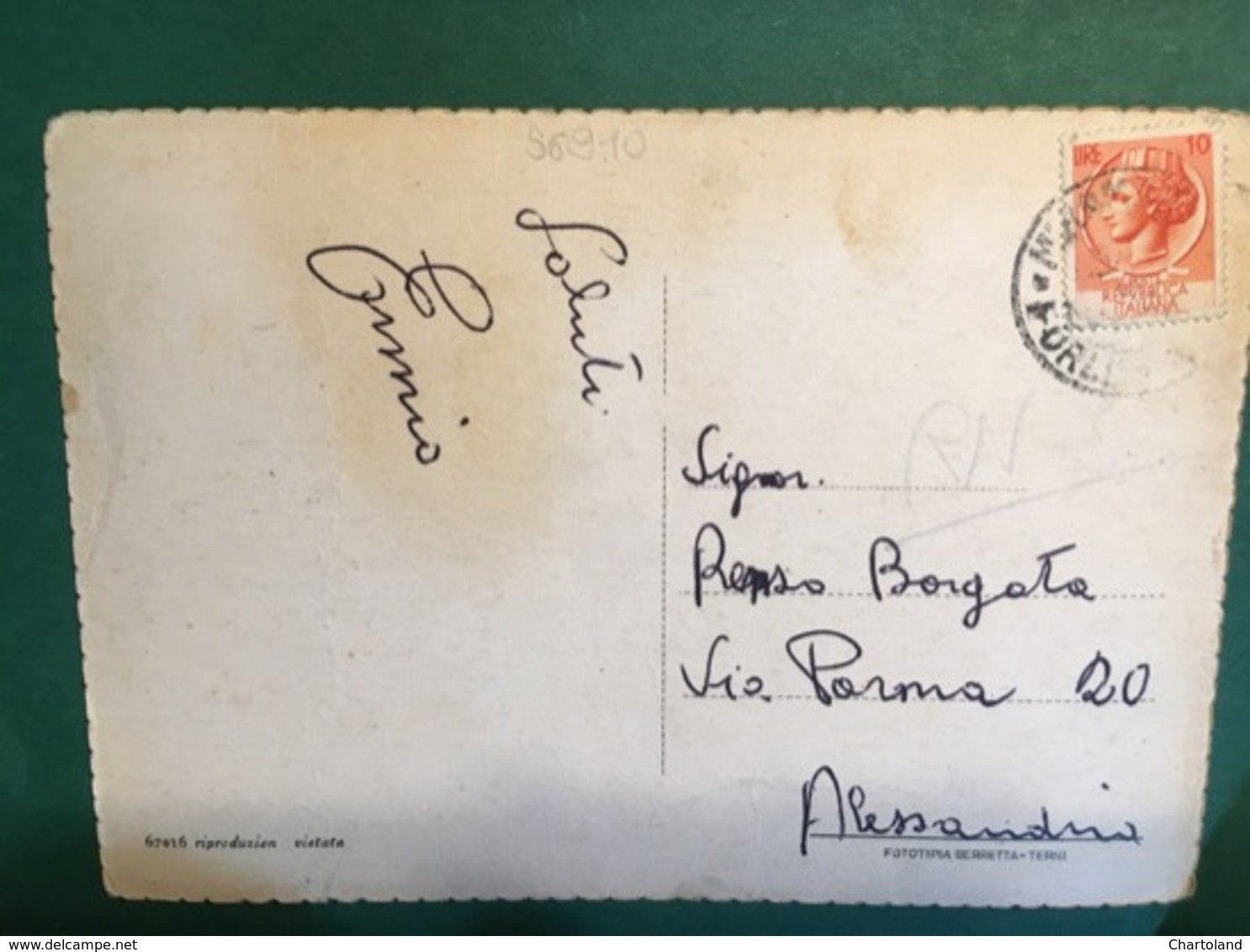 Cartolina Miramare Di Rimini - Pensione Riviera - 1930 - Rimini