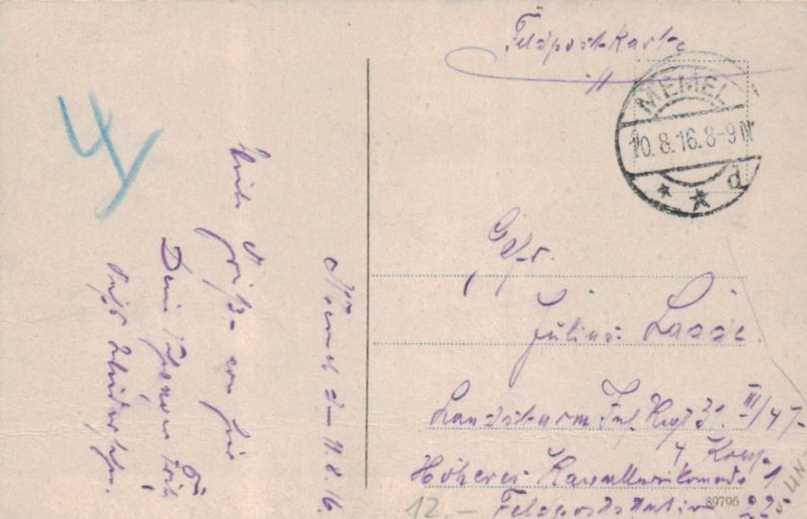 Memel  - Alte Karte ...   (ka6595  ) Siehe Scan - Litauen