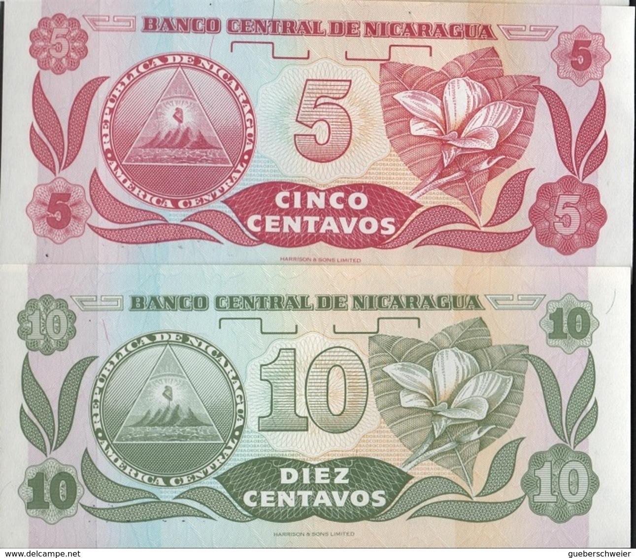 B 88 - NICARAGUA Lot De 2 Billets états Neufs - Nicaragua