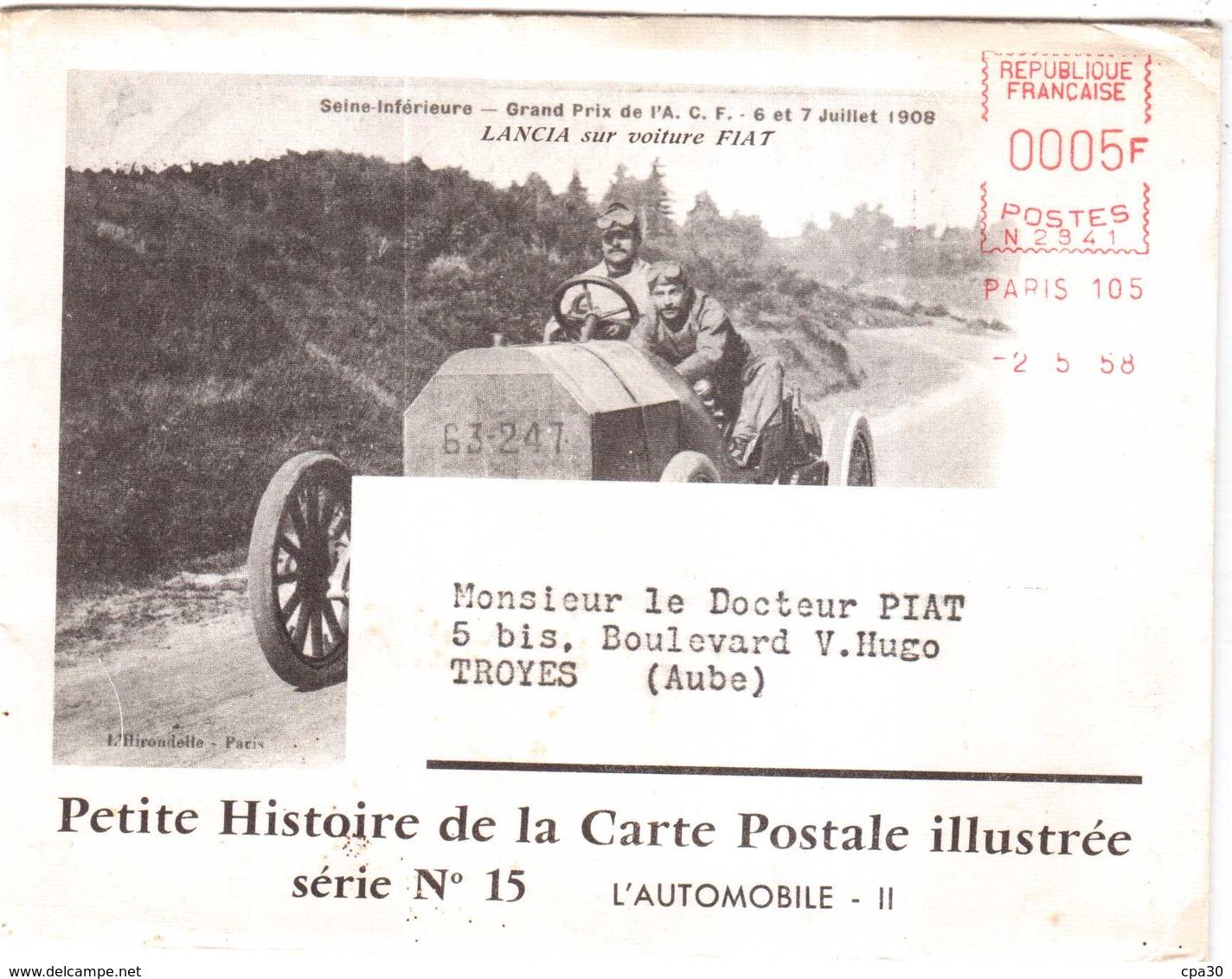 CPA.ENVELOPPE Et DEPLIANT INTERIEUR 3 VOLETS Sur PETITE HISTOIRE DE LA CARTE POSTALE ILLUSTREE ET PUBLICITE BIOLACTYL - France