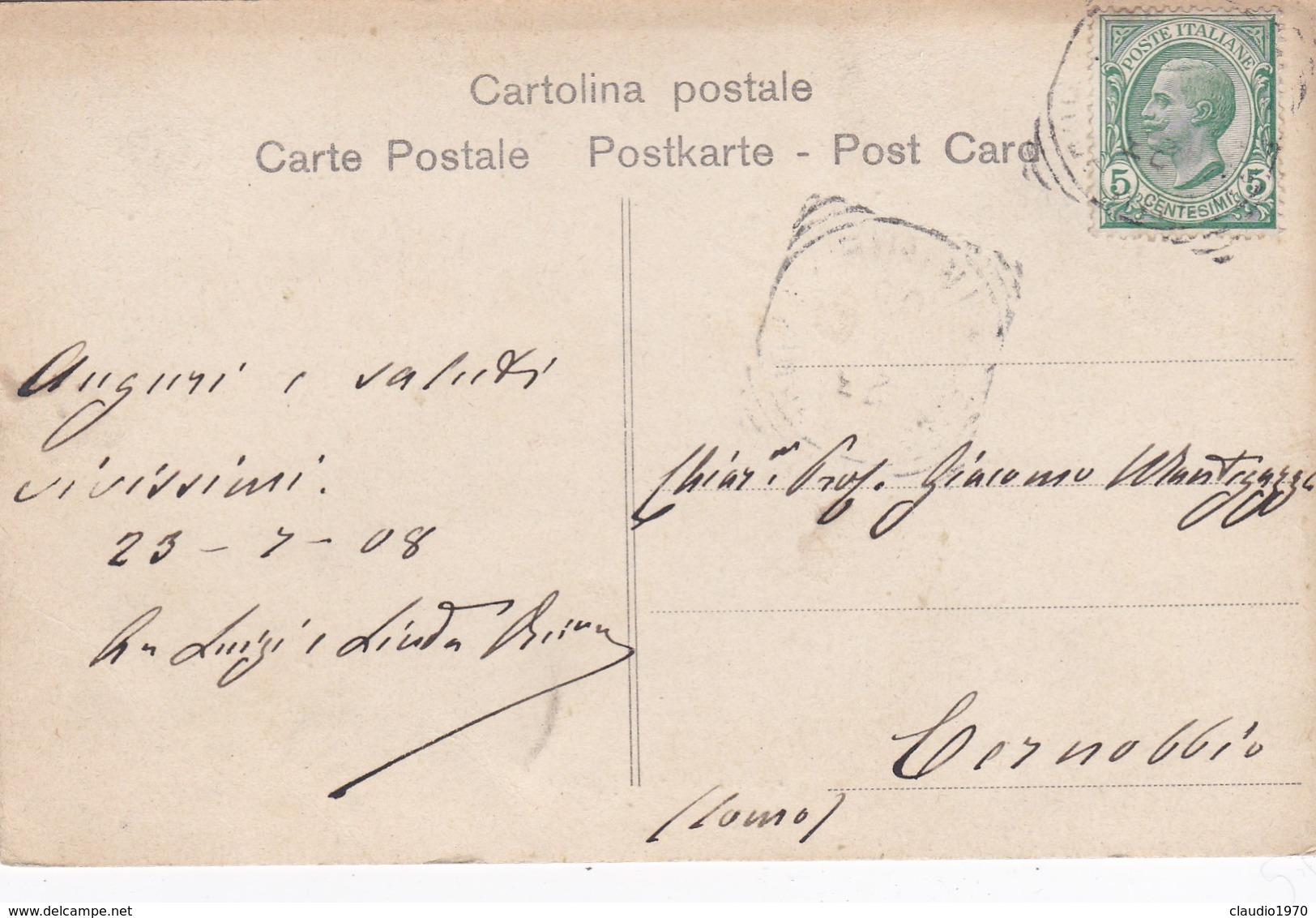 CARTOLINA  - RIMINI - APPRODO - VIAGGIATA DA RIMINI PER CERNOBBIO ( COMO ) - Rimini