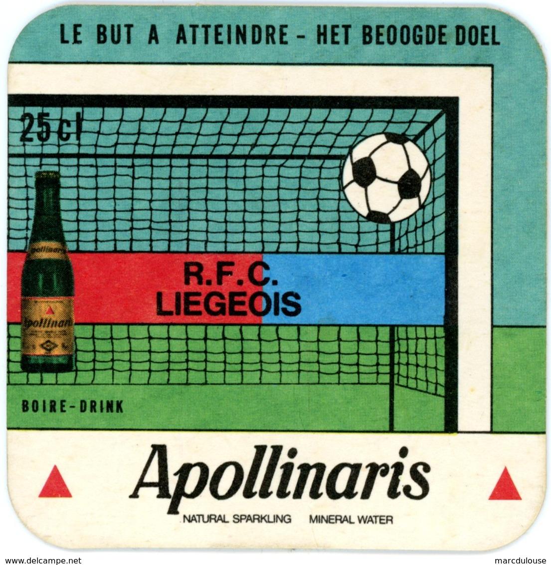 Apollinaris. Natural Sparkling Mineral Water. R.F.C. Liégeois. Football. Le But à Atteindre. Het Beoogde Doel. Boire. - Sous-bocks