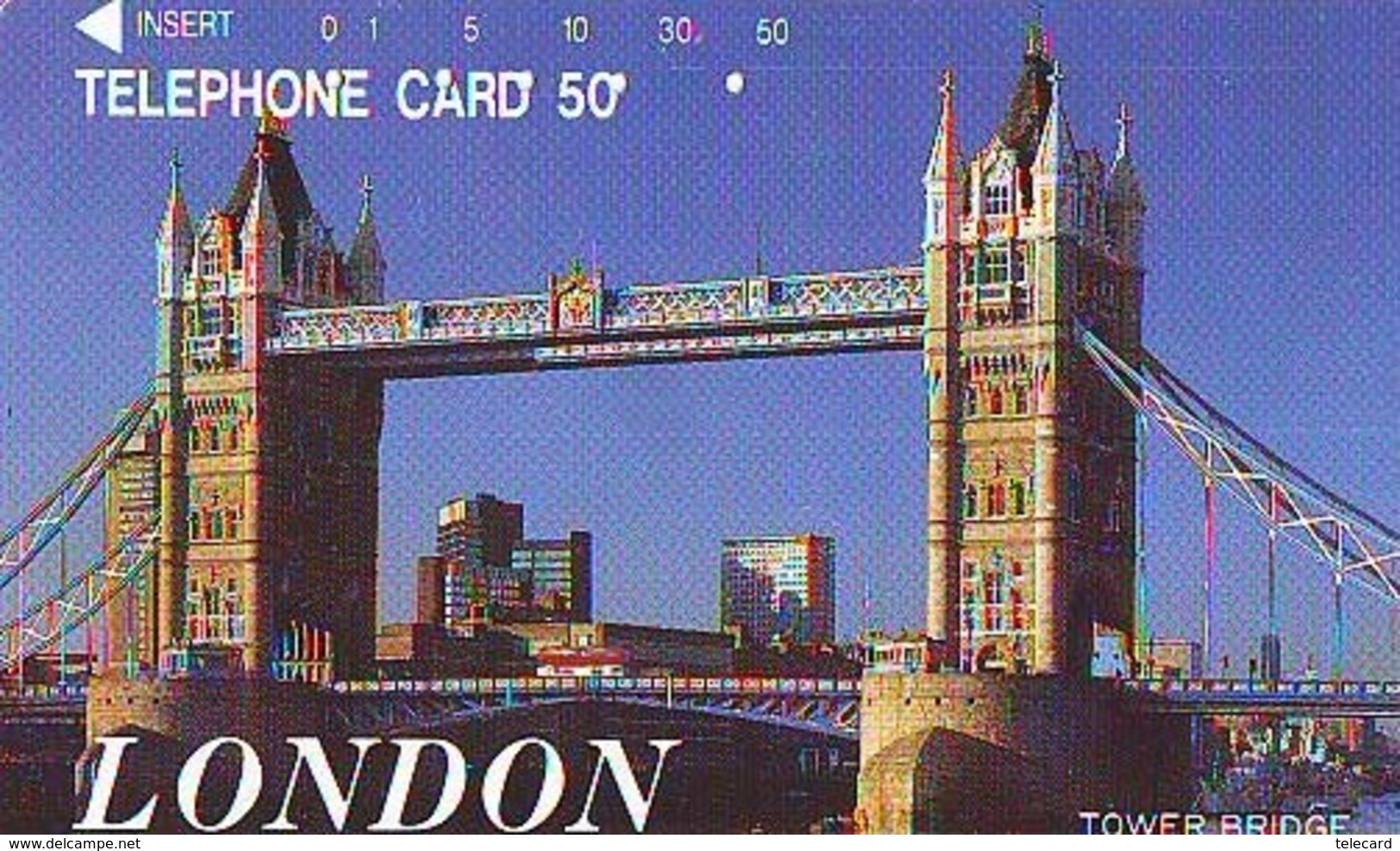 Télécarte Japon ANGLETERRE (303) GREAT BRITAIN Related * ENGLAND Phonecard Japan * TOWER BRIDGE * LONDON - Paisajes