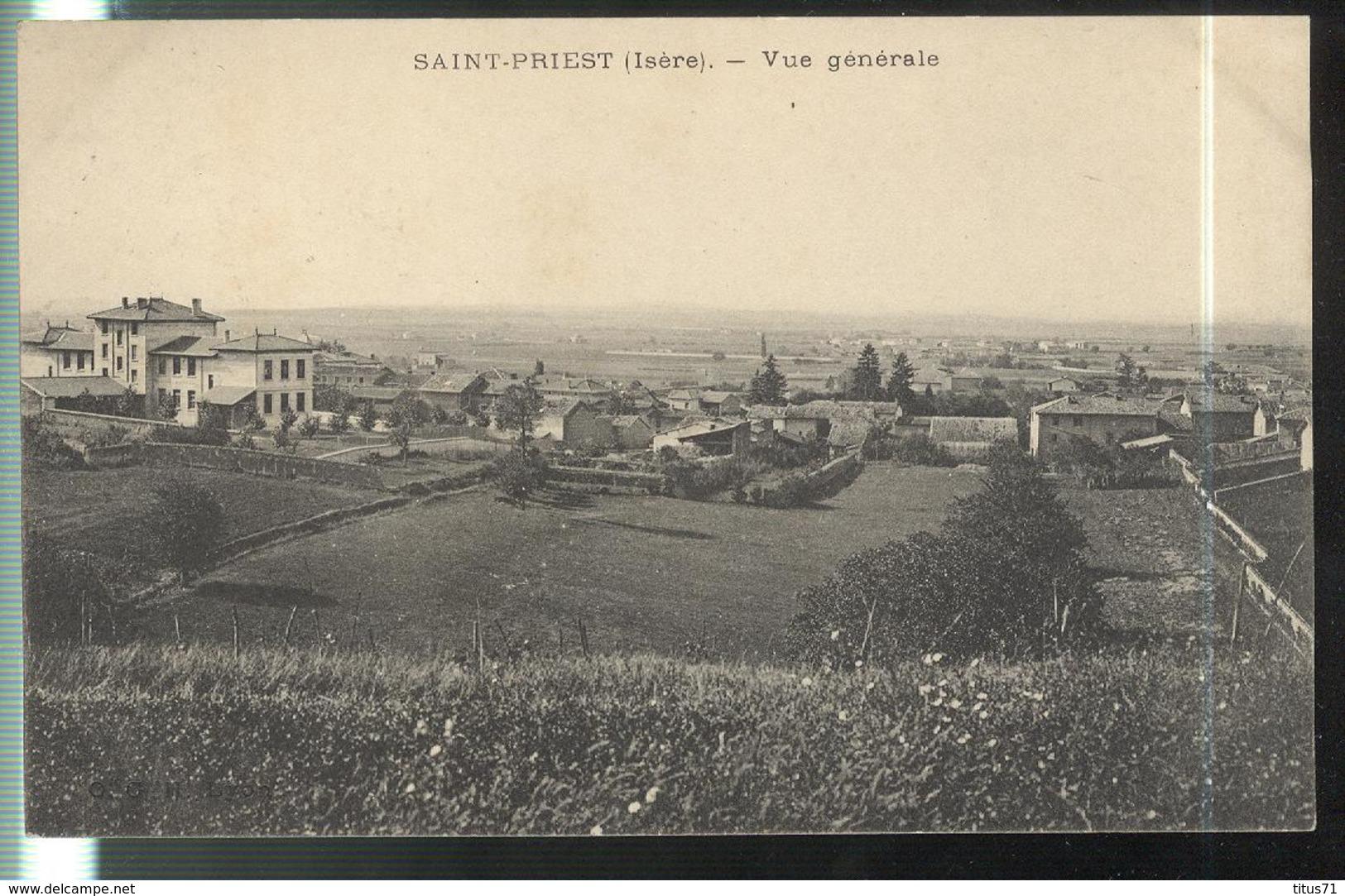 CPA Saint Priest ( 38 )  - Vue Générale - Circulée - Other Municipalities
