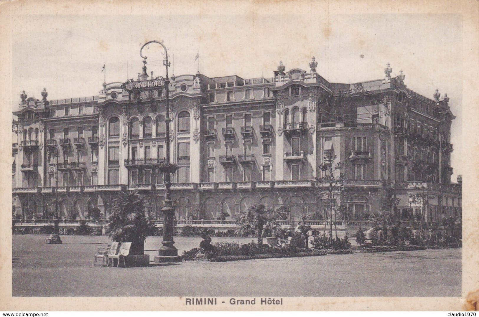 CARTOLINA - POSTCARD - RIMINI - GRAND HOTEL - Rimini