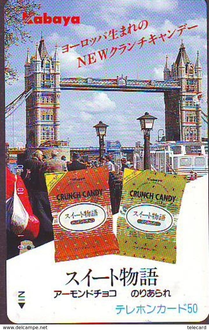 Télécarte Japon ANGLETERRE (305) GREAT BRITAIN Related * ENGLAND Phonecard Japan * TOWER BRIDGE * LONDON - Paysages