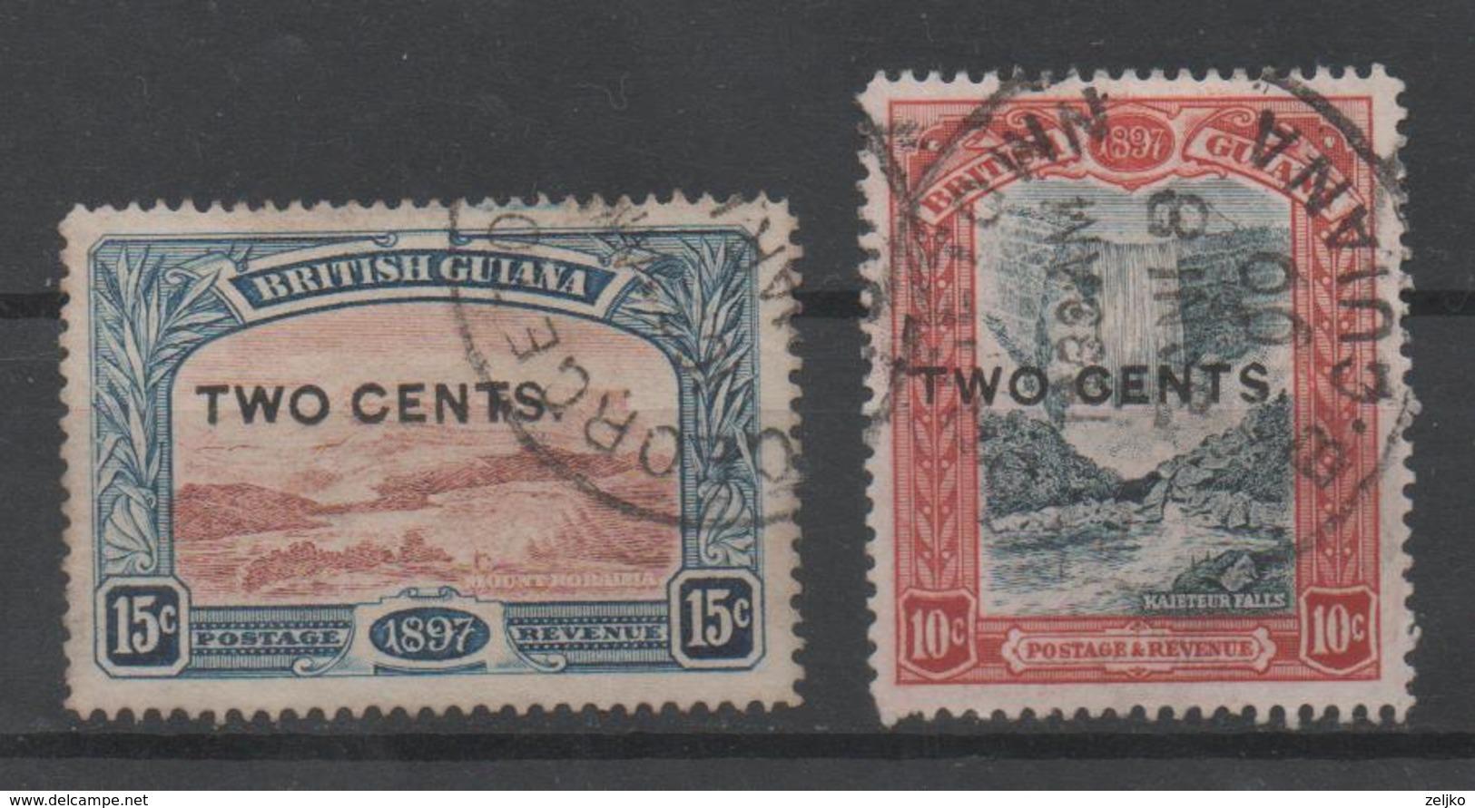British Guiana, MH, 1899, Michel 104, 105 - British Guiana (...-1966)