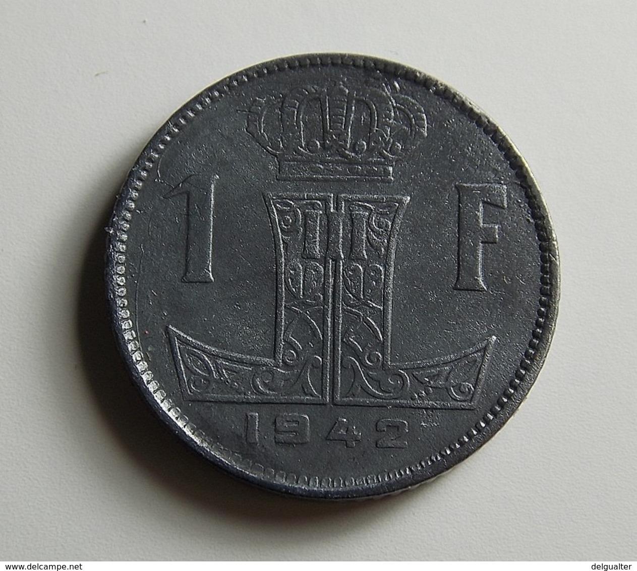 Belgium 1 Franc 1942 Varnished - 1934-1945: Leopold III