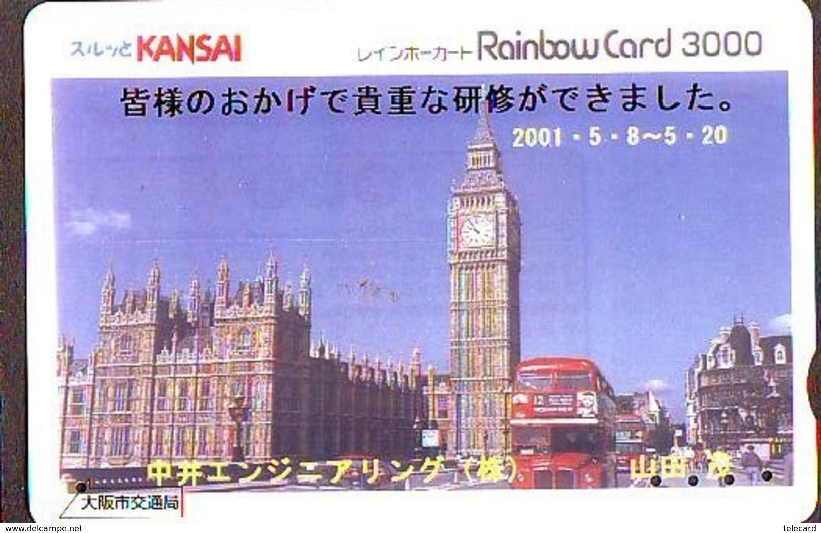 Carte Prépayée Japon * ANGLETERRE * ENGLAND * LONDON (326) GREAT BRITAIN Related *  Prepaid Card Japan * - Paisajes