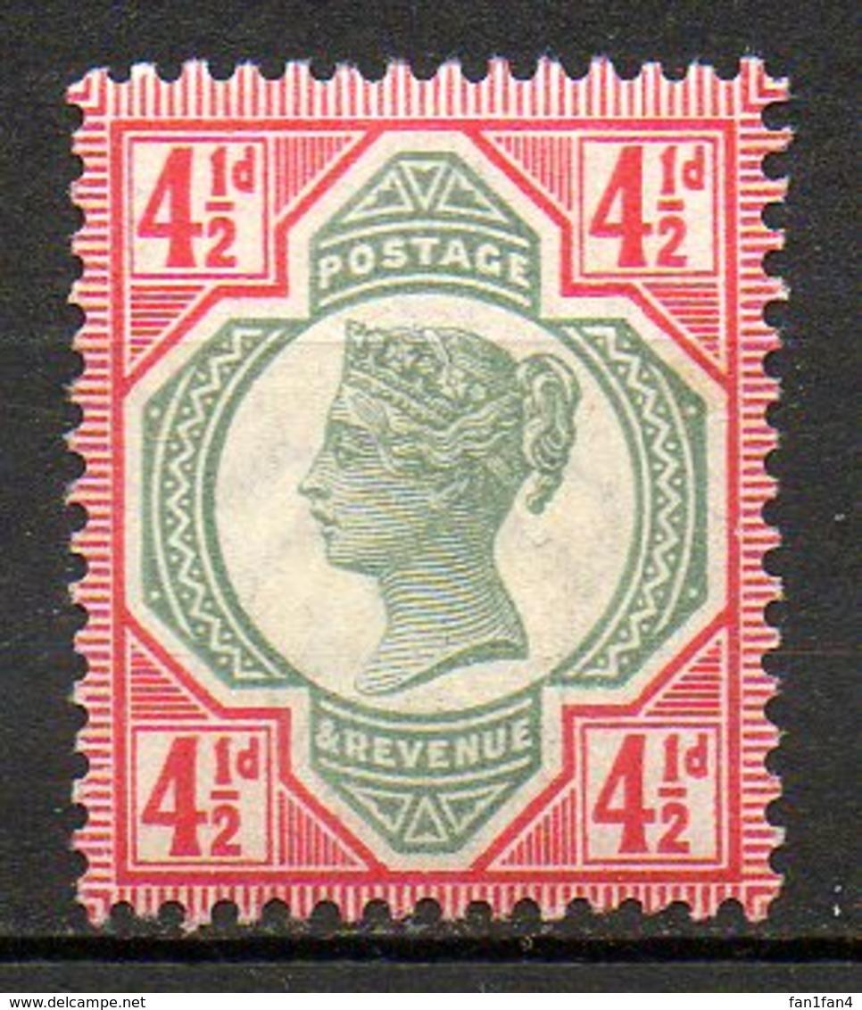 GRANDE BRETAGNE - 1887-1900 - N° 98 - 4 1/2 D. Rouge Carminé Et Vert - (Cinquantenaire Du Règne De Victoria) - Neufs