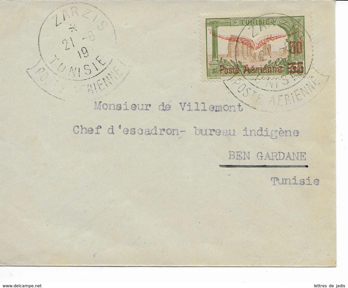 Env Cad  ZARZIS 21 /6/1919 Pour BEN GARDANE  TTB - Tunisia (1888-1955)