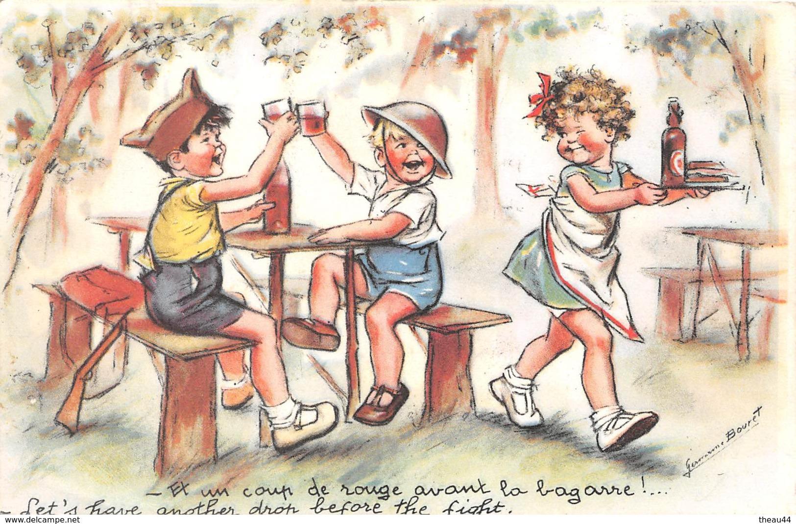 """Illustrateur """" Germaine BOURET """" -  Un Coup De Rouge Avant La Bagarre !  -  2e Guerre - Bouret, Germaine"""
