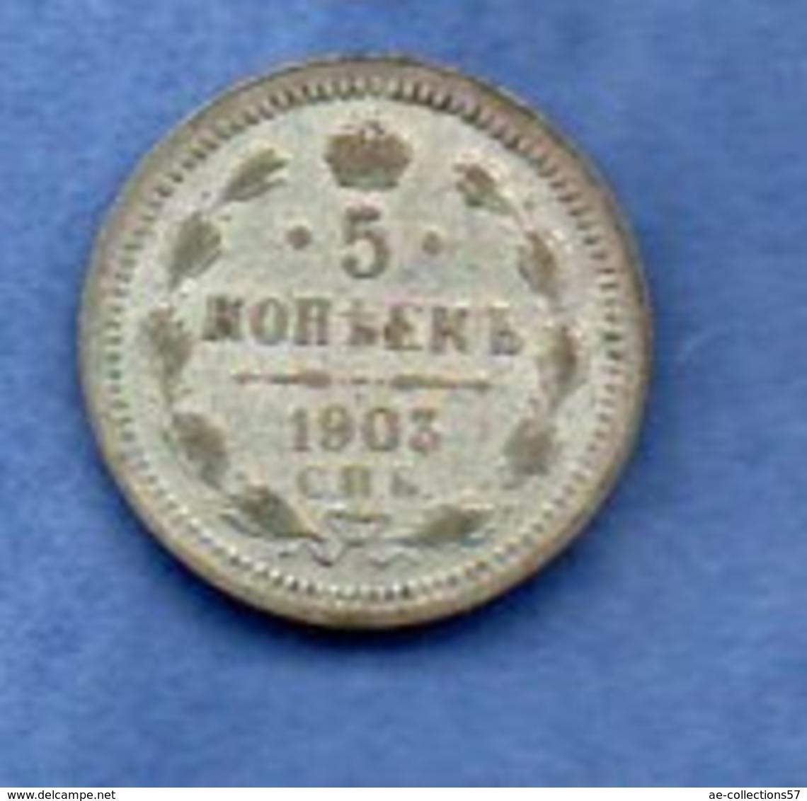 Russie    - 5 Kopeks 1903    - Km # 19a1 -  état  TB+ - Russia