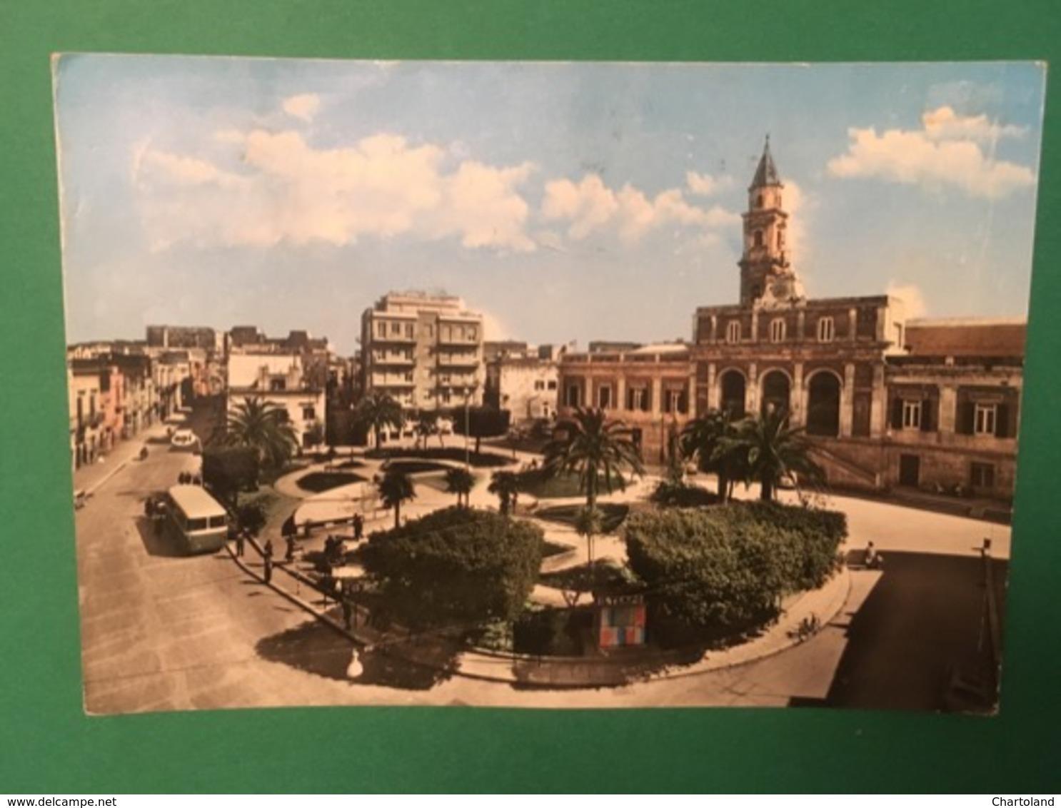 Cartolina Andria - Piazza Municipio - 1966 - Bari