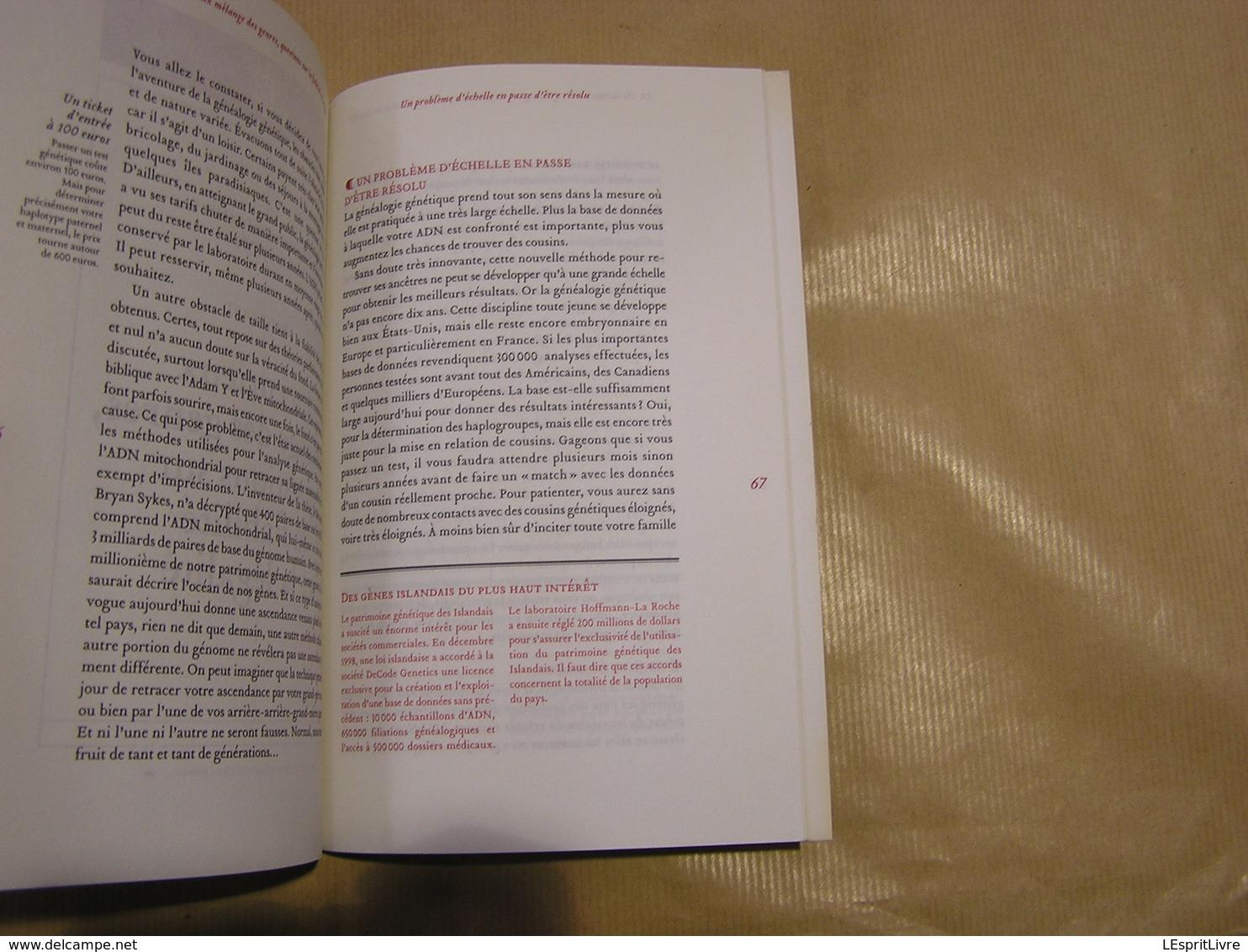 RETROUVER SES ANCÊTRES PAR L' ADN Généalogies Guide Généalogie Famille Recherches Test Héridité - Geschiedenis