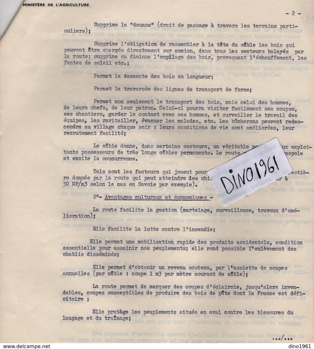 VP14.430 -  PARIS 1962 - Lettre De Mr Le Chef De Service Des Fôrets ...Préparation Du Symposium En 1963 à GENEVE ...... - Collections