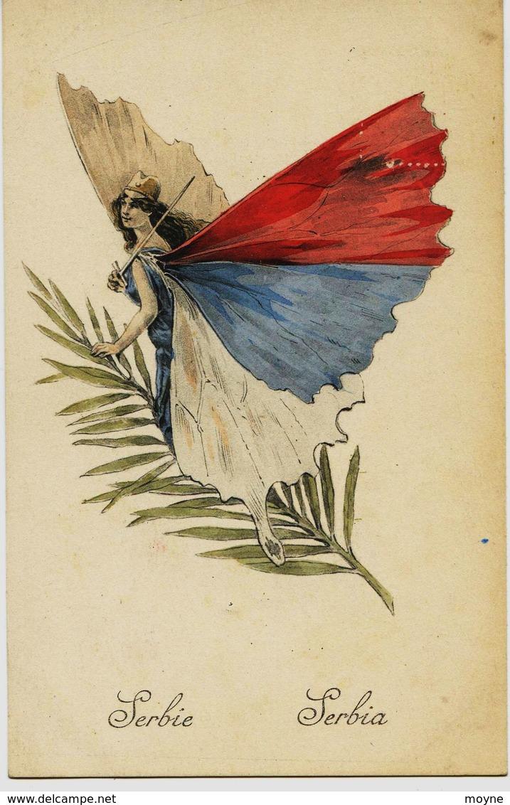 8602 - Illustrateur - FEMME PAPILLON  -  SERBIE .  SERBIA -  Guerre 1914 / 1918 - Serbia