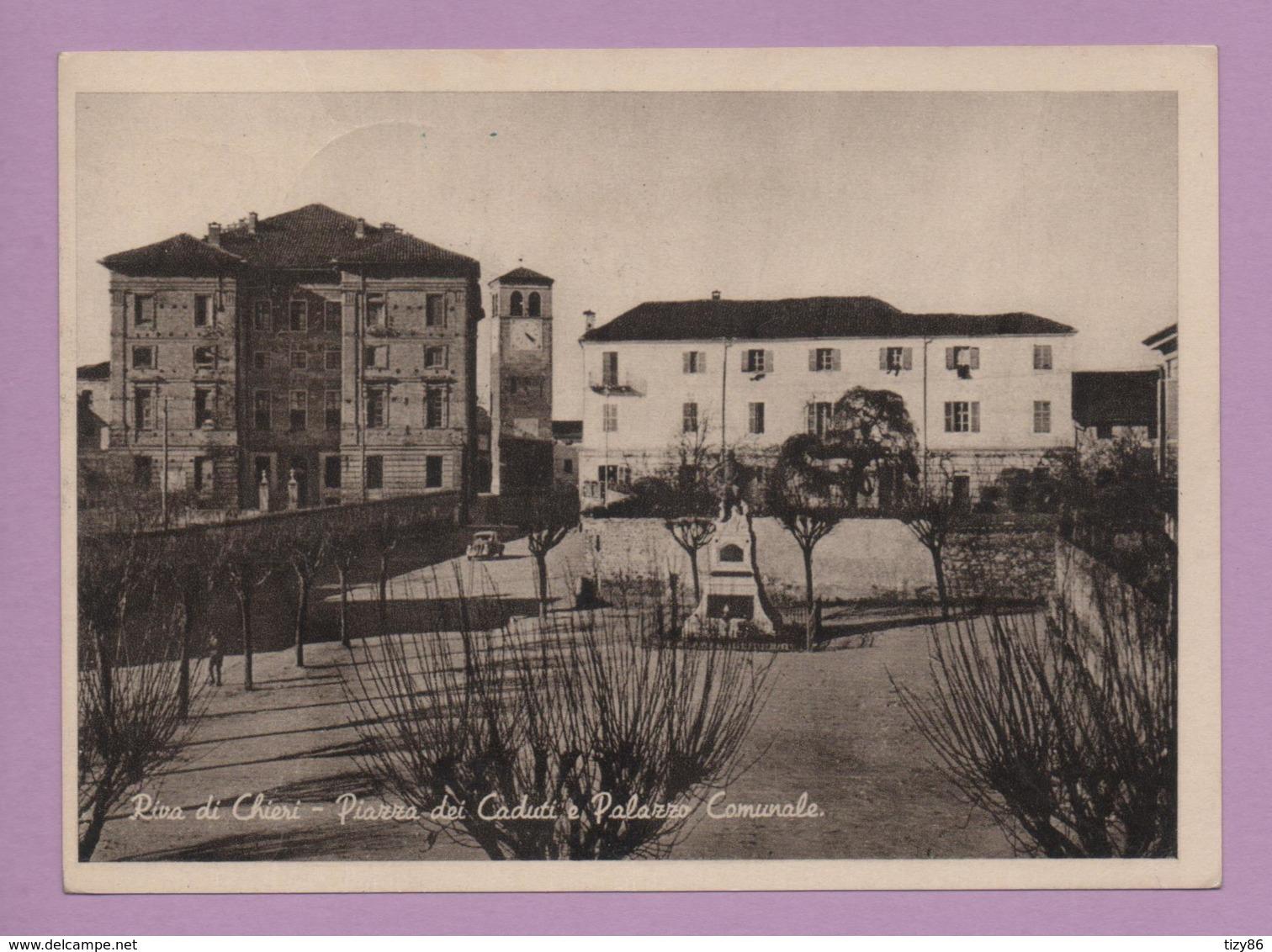 Riva Di Chieri - Piazza Dei Caduti E Palazzo Comunale - Italie