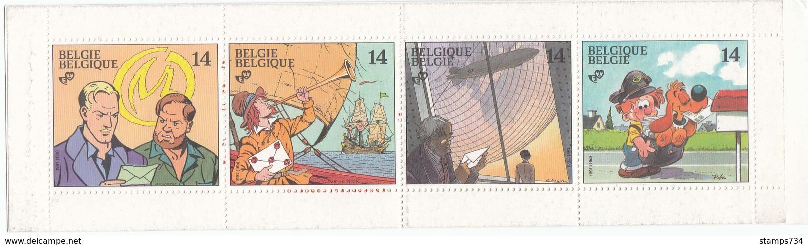 Belgique 1991 - Comics, Carnet, MNH**, Non Plie - Nuovi