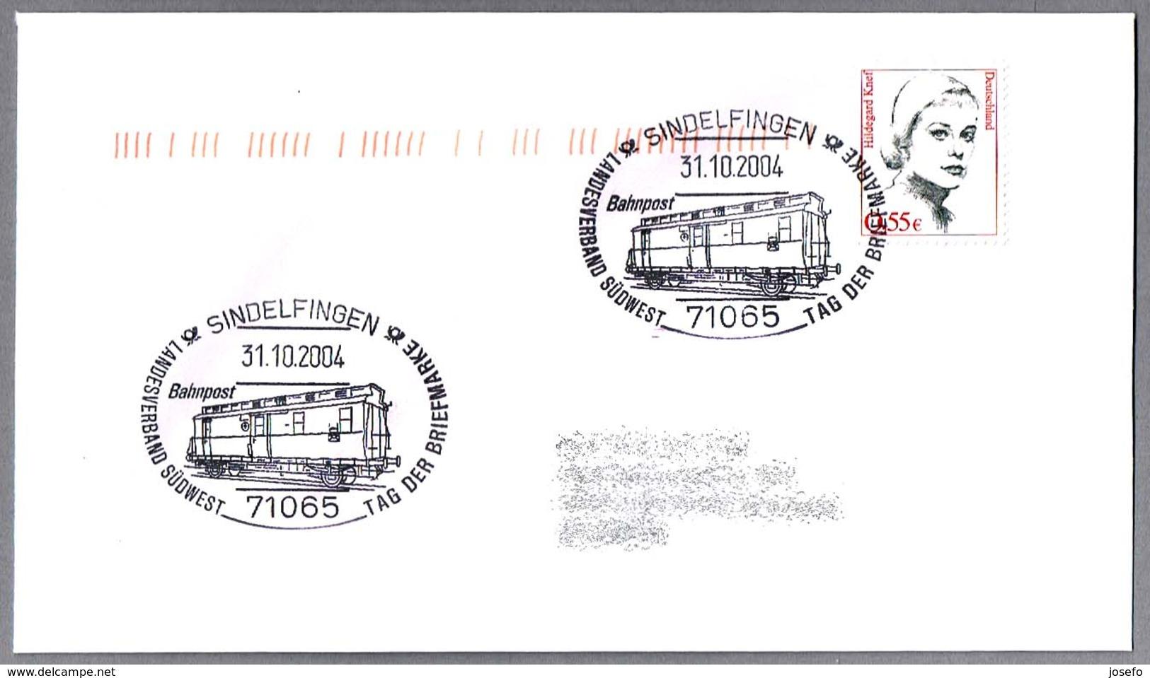 VAGON POSTAL - POSTAL WAGON - BAHNPOST. Sindelfingen 2004 - Correo Postal