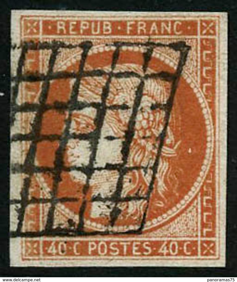 Oblit. N°5a 40c Orange Vif - TB - 1849-1850 Ceres