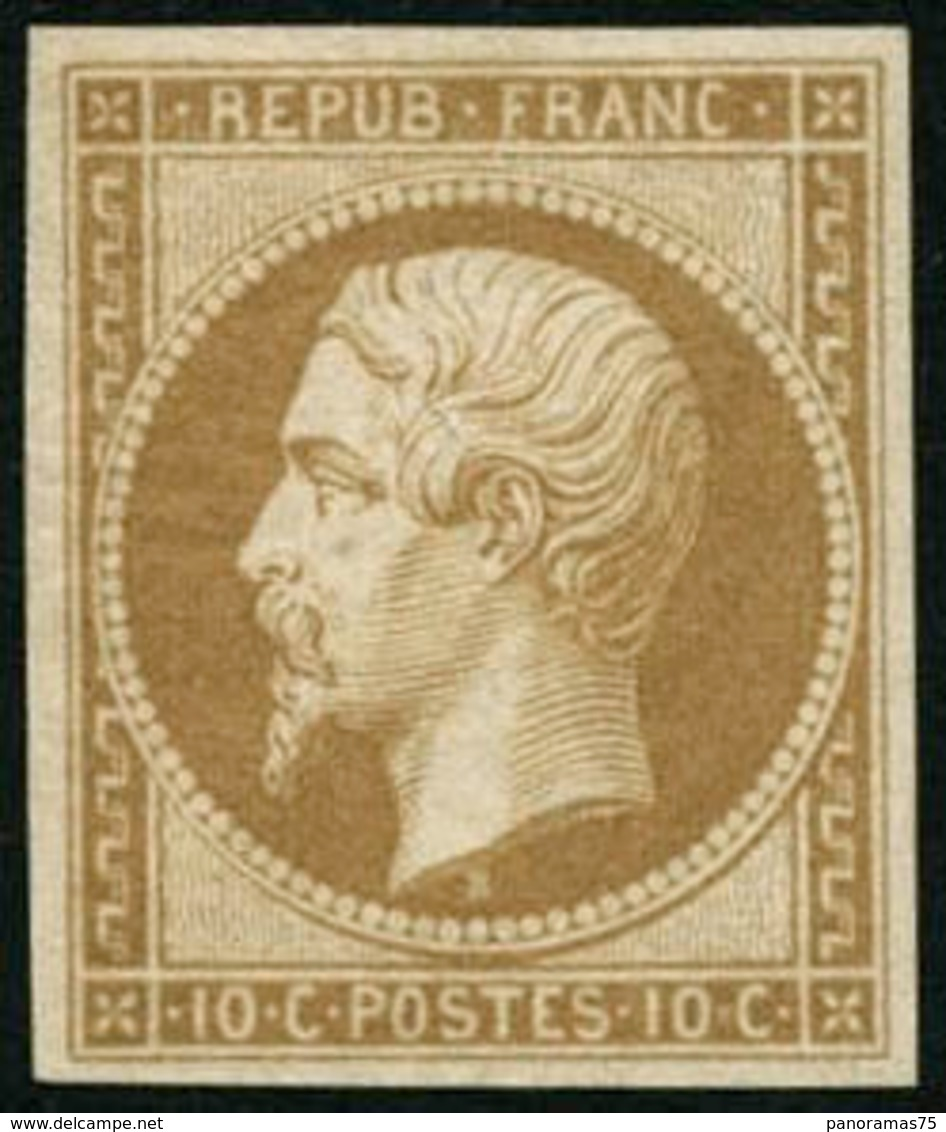 * N°9e 10c Bistre, Réimp Quasi SC - TB - 1852 Luigi-Napoleone