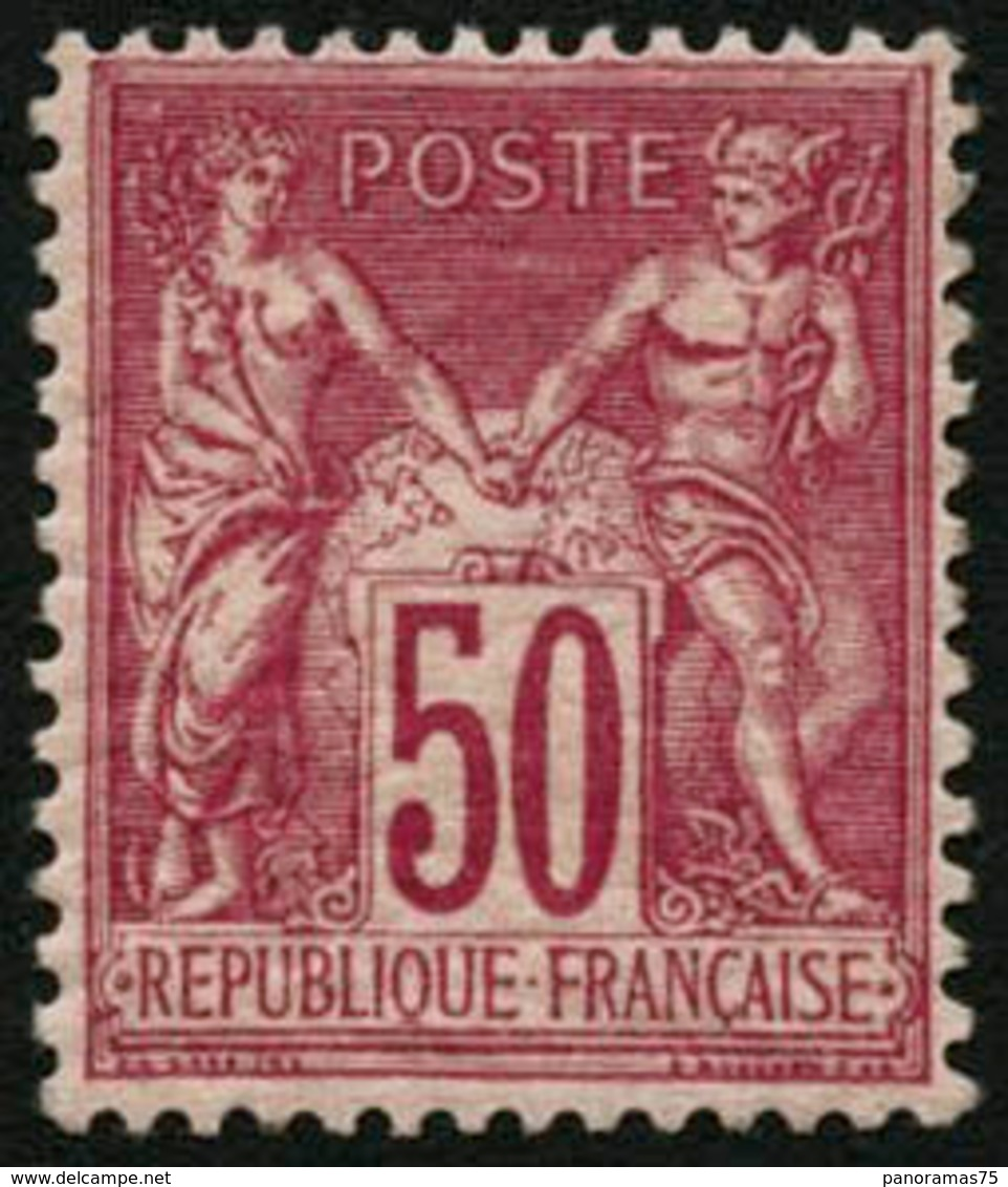 ** N°98 50c Rose, Signé Calves - TB - 1876-1898 Sage (Type II)