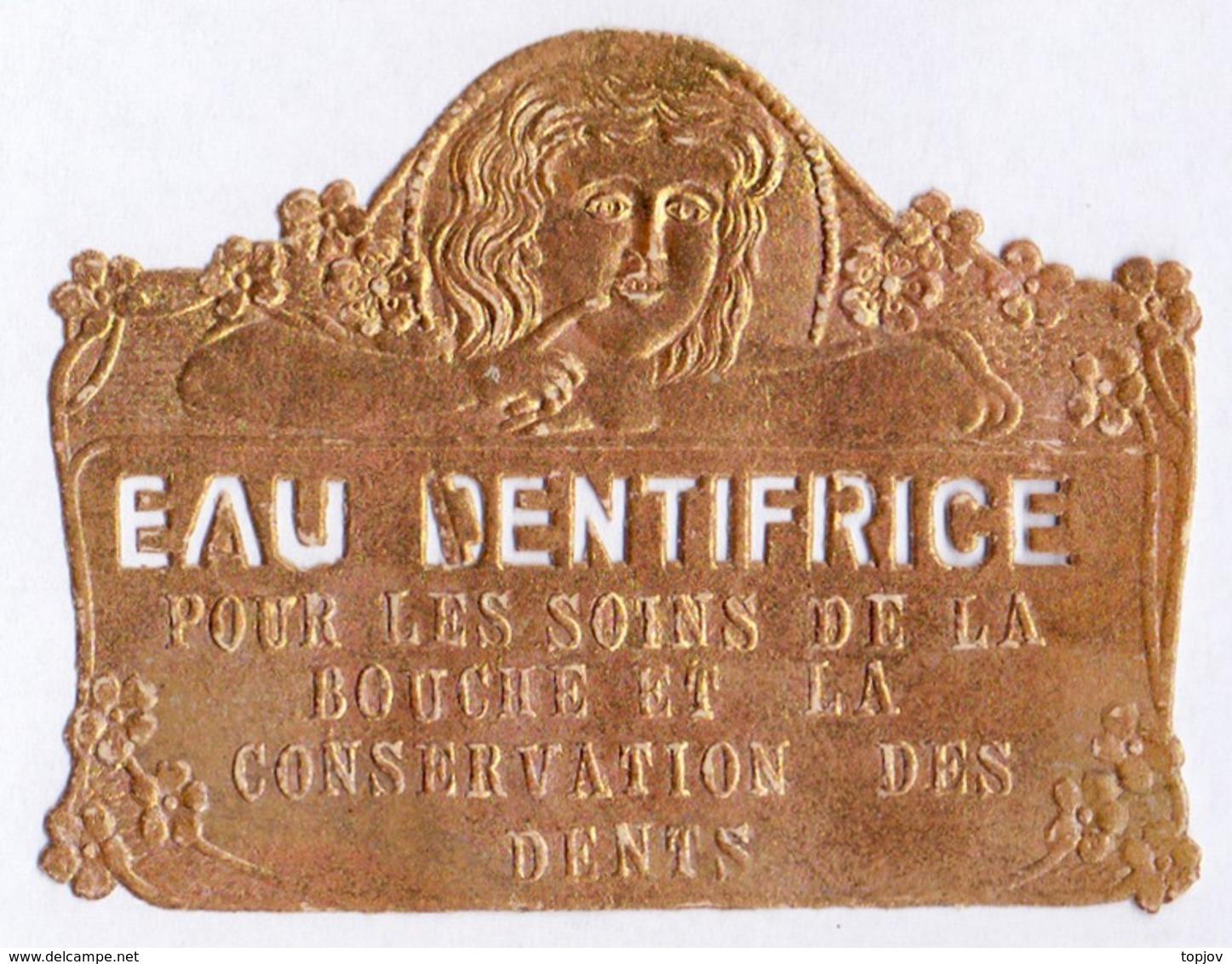 PRINT From J. STERN BERLIN - EUA  DENTIFRICE  On GOLD Folie - Cc 1910/15 - Labels