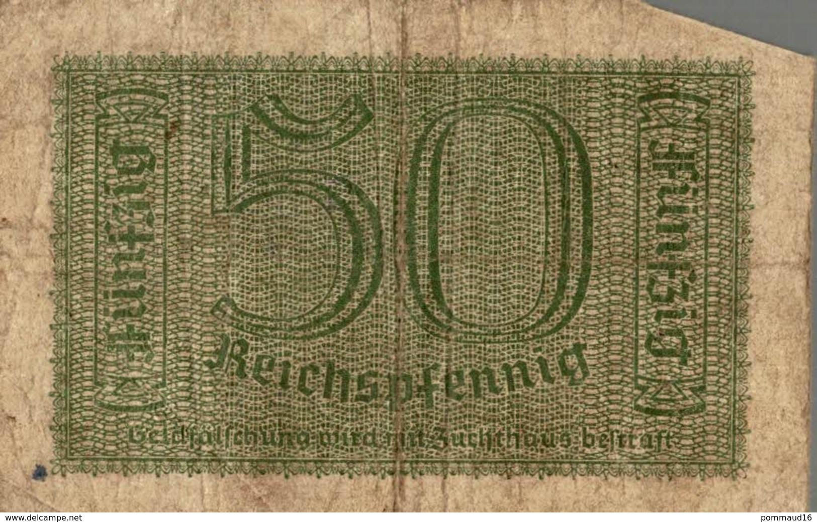 Billet Fünfzig Reichspfenning 50 - 50 Reichsmark