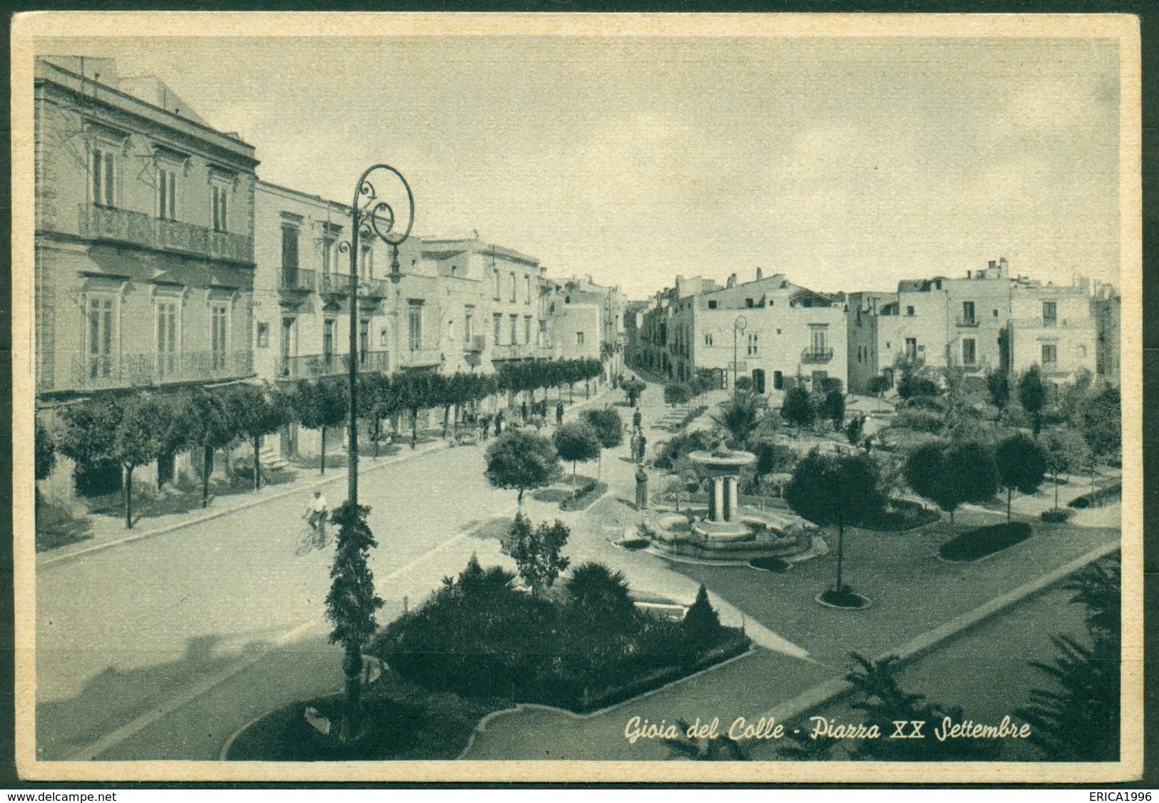 CARTOLINA - BARI - CV608 GIOIA DEL COLLE -  Piazza XX Settembre, FG, Non Viaggiata, Ottime Condizioni - Bari