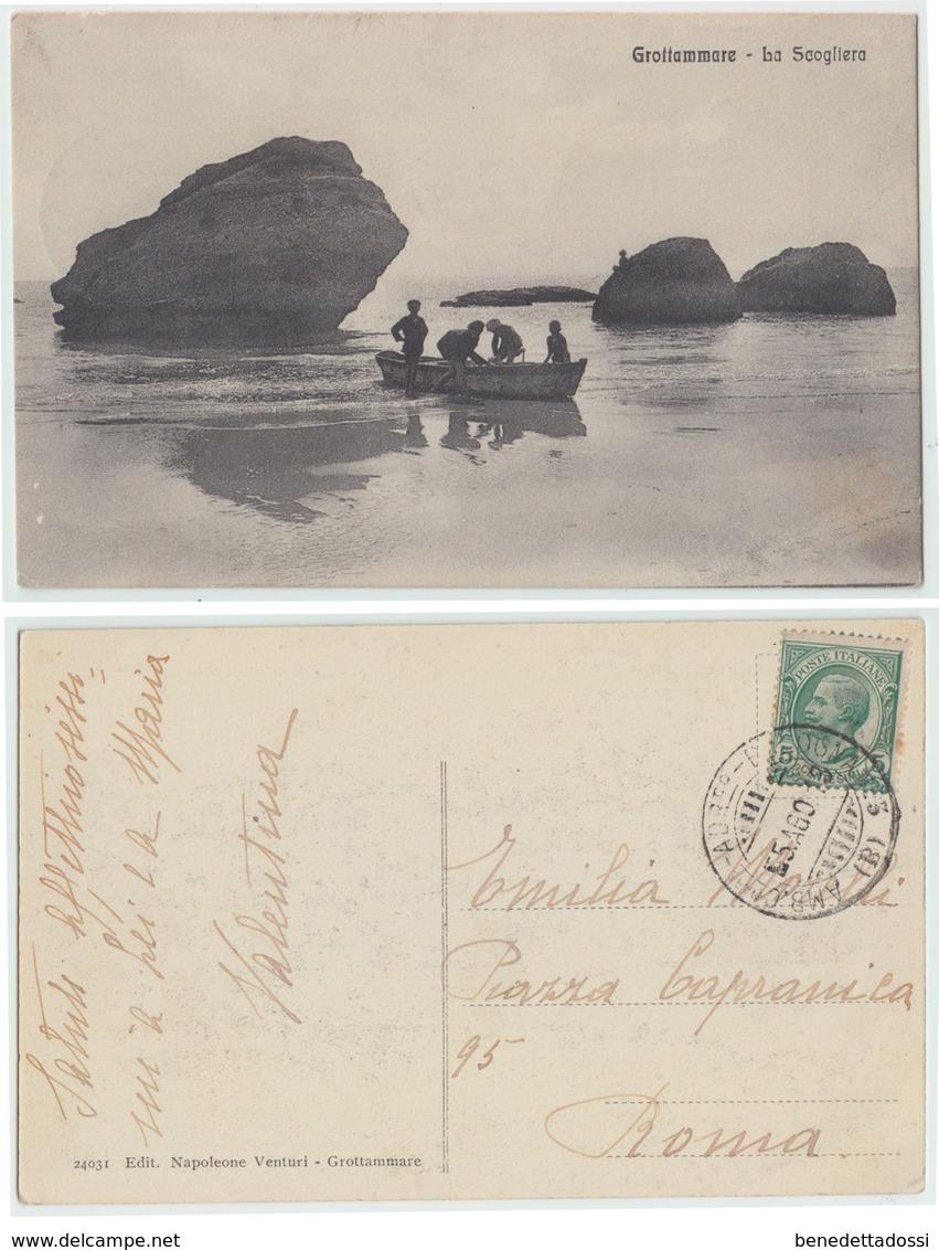 Grottammare - La Scogliera, 1913 - Italia