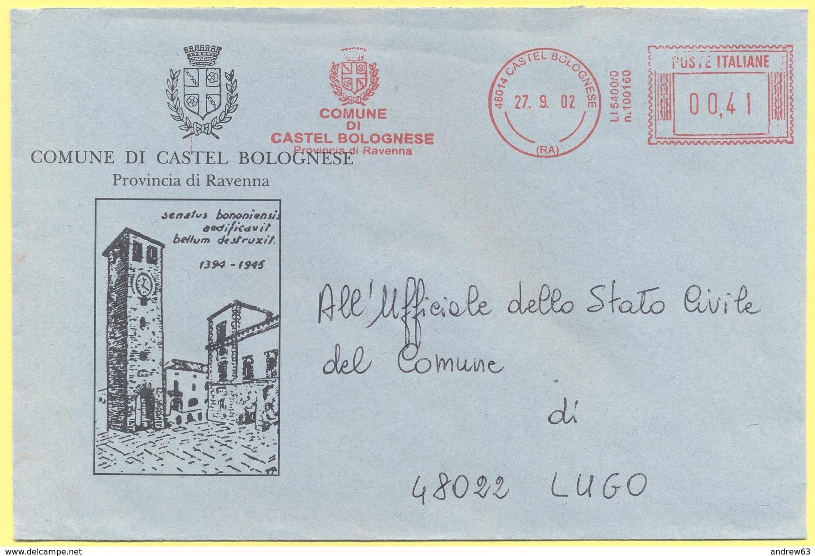 ITALIA - ITALY - ITALIE - 2002 - 00,41 EMA, Red Cancel - Comune Di Castel Bolognese - Viaggiata Da Castel Bolognese Per - Affrancature Meccaniche Rosse (EMA)