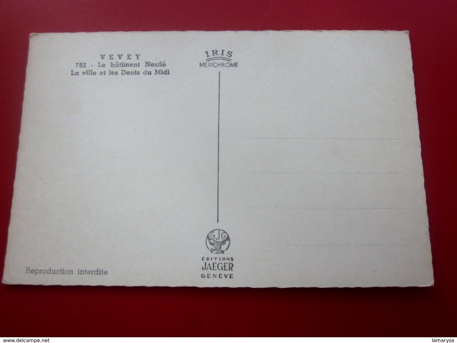 VEVEY  LE BÂTIMENT Nestlé La Ville Et Les Dents Du Midi CPSM Carte Postale Europe  Belgique éditions JAEGER - Belgique