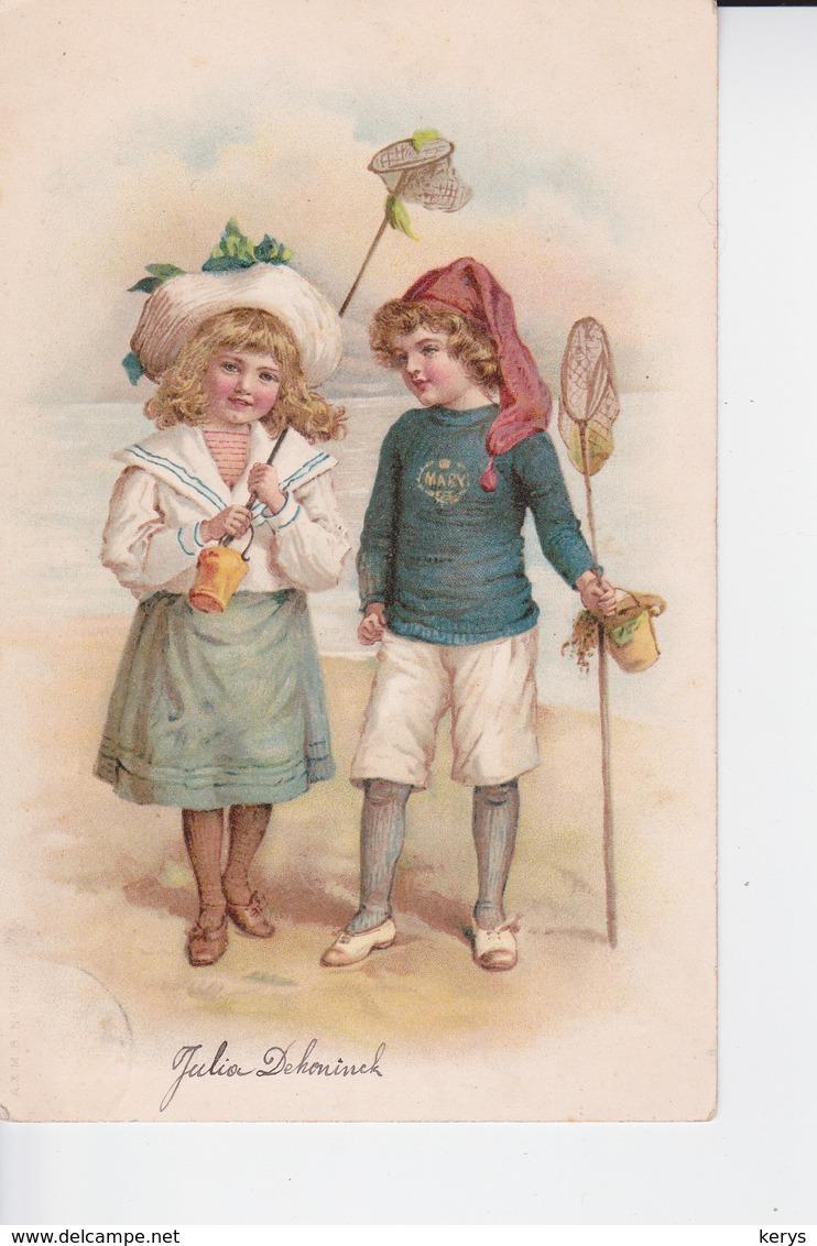 CP 1900 : Jeune Couple Allant à La Pêche Aux Crevettes - Portretten