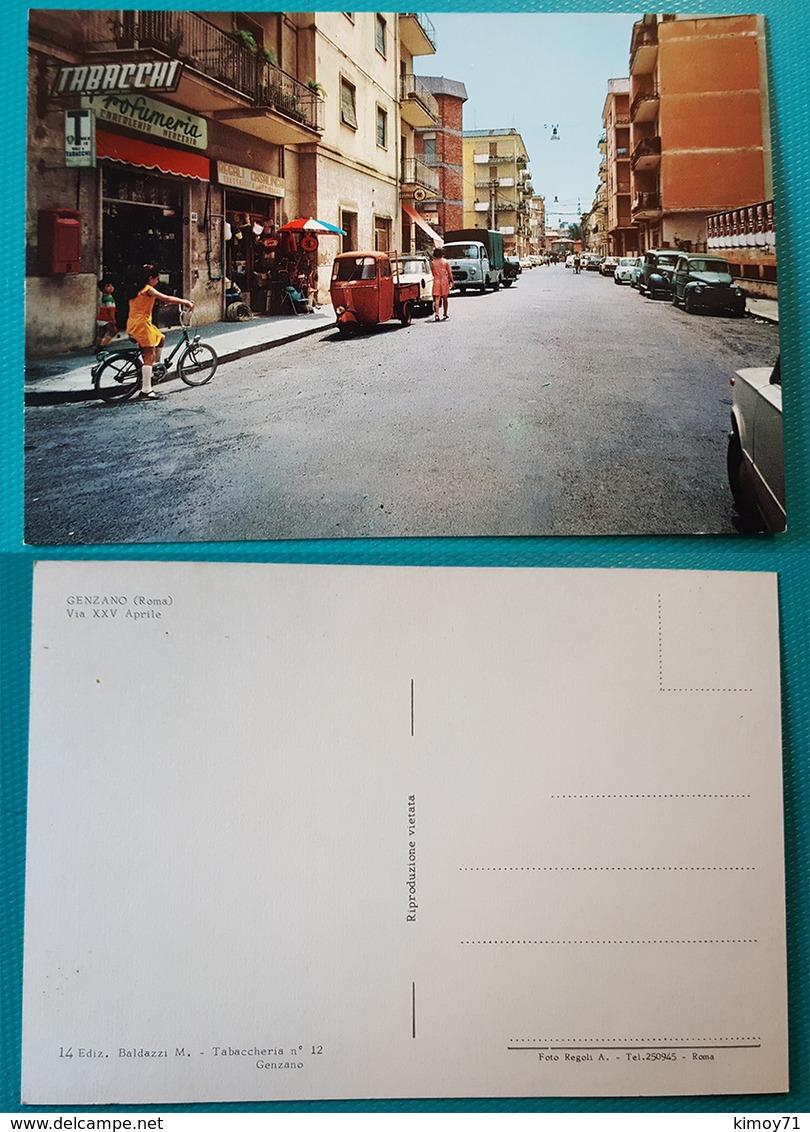 Cartolina Genzano (Roma) - Via XXV Aprile. Non Viaggiata - Italia