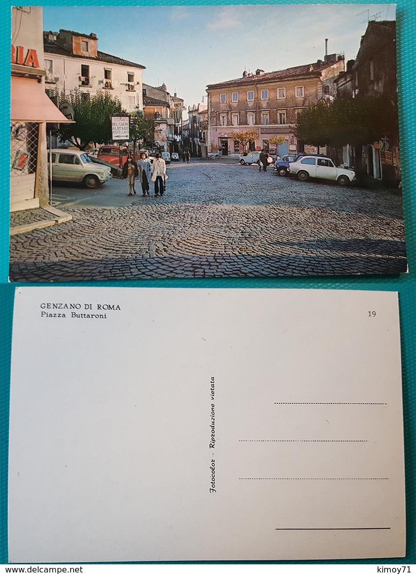 Cartolina Genzano Di Roma - Piazza Buttaroni. Non Viaggiata - Altre Città