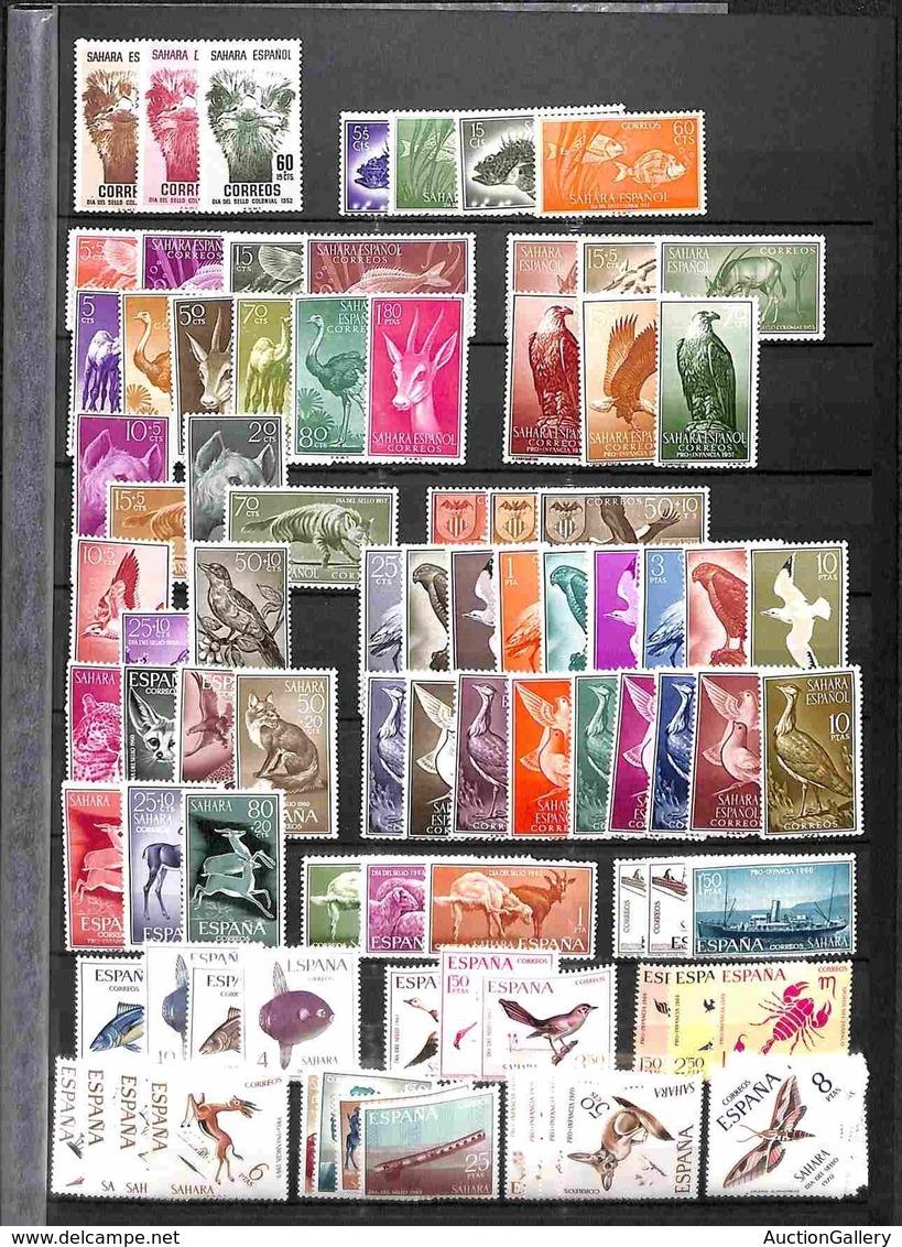 EUROPA - SPAGNA - 1952/1970 - Insieme Di 22 Serie Complete Del Periodo - Solo Una Gomma Originale Il Resto Gomma Integra - Stamps