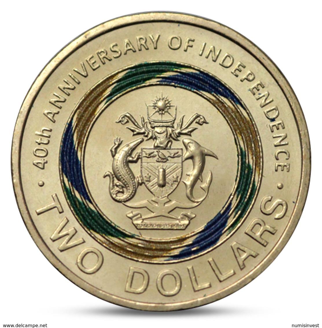 SOLOMON ISLANDS 2 DOLLARS 40th ANNIVERSARY OF INDEPENDENCE COLOR UNC 2018 - Salomonen
