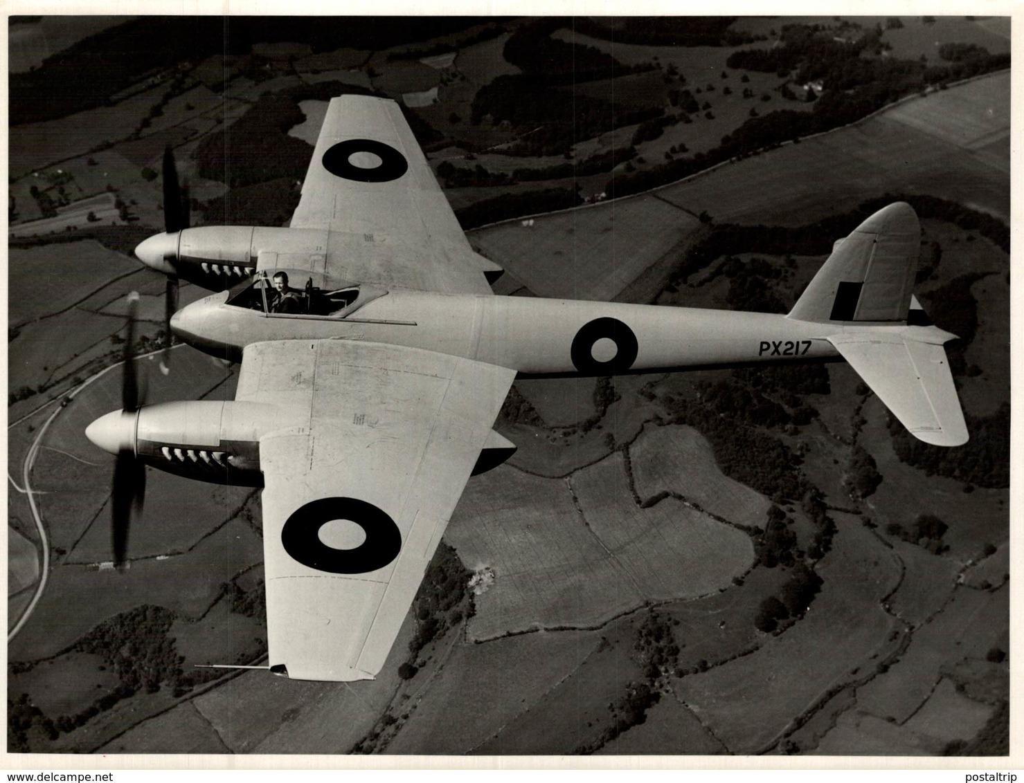 De Havilland DH  HORNET     21 * 17  Cm - Aviación