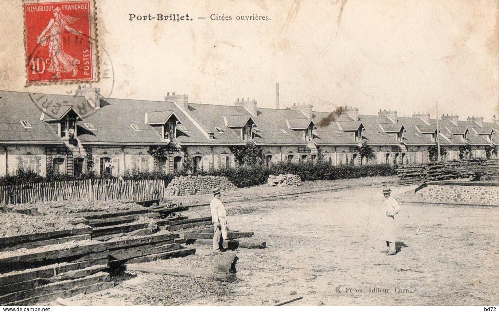 PORT BRILLET ( Mayenne ) - Cité Ouvrière  / 2 Cpa - France